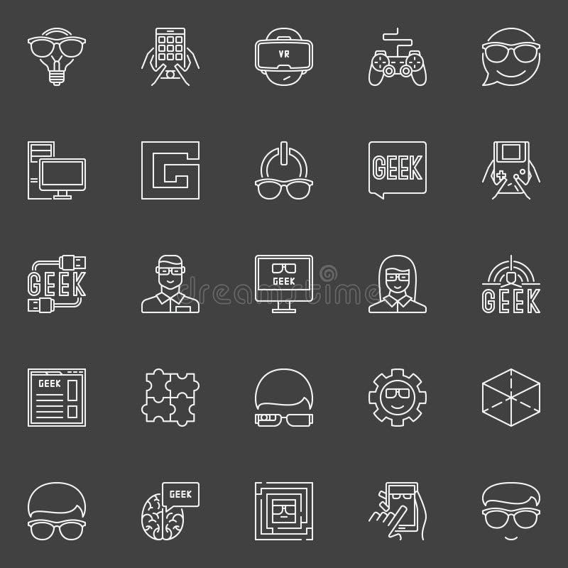Ligne icônes de connaisseur de vecteur illustration libre de droits