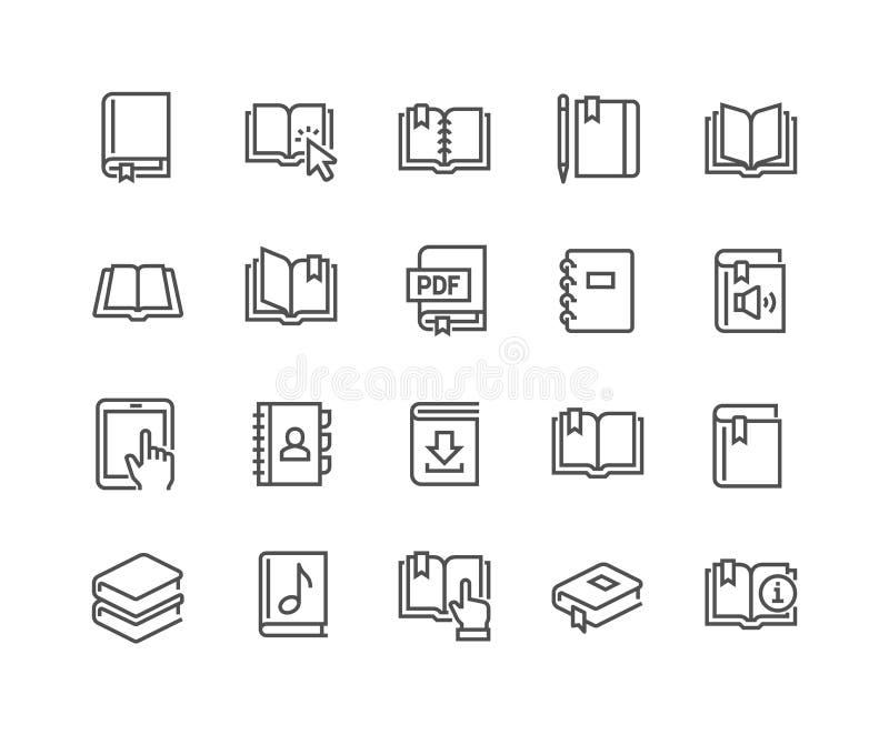 Ligne icônes de livre illustration libre de droits