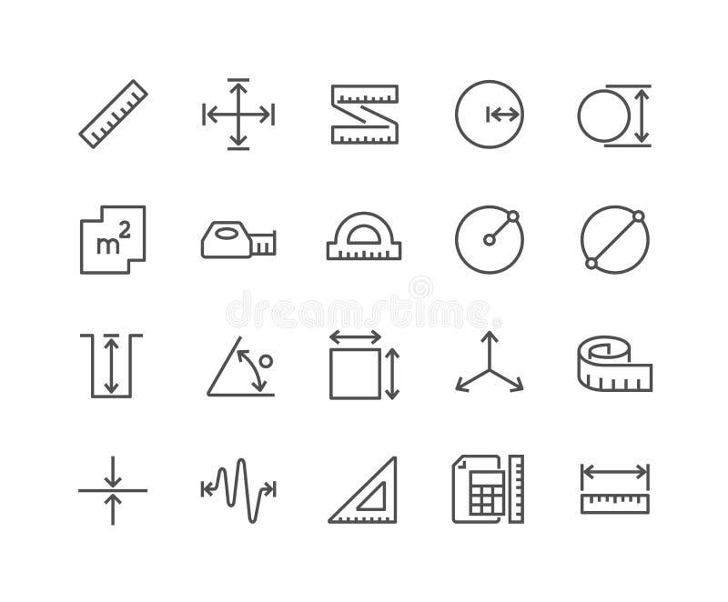 Ligne icônes de mesure illustration de vecteur