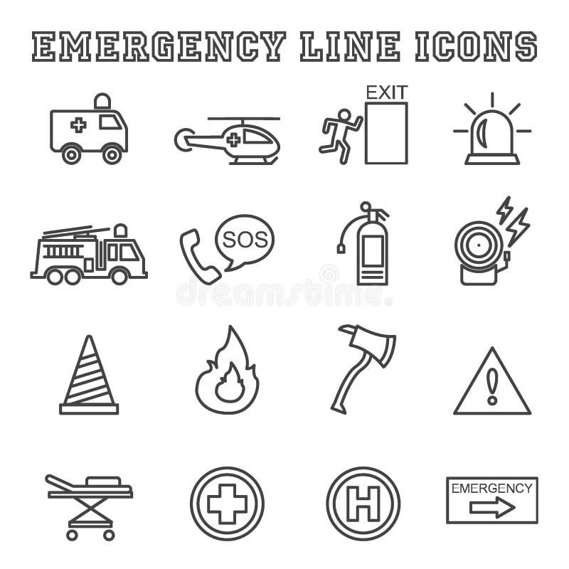 Ligne icônes de secours illustration stock