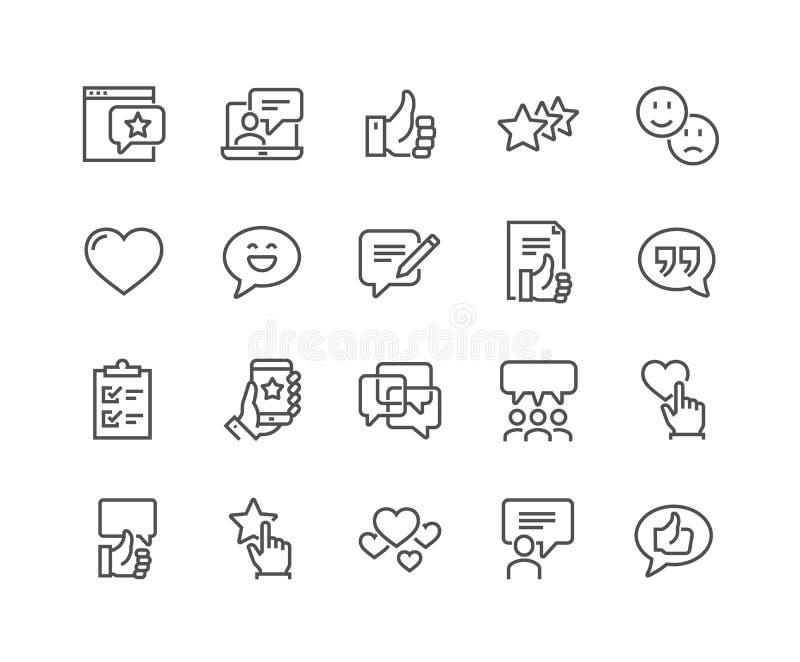 Ligne icônes de témoignages illustration libre de droits