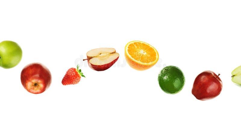 Ligne incurvée de fruit image libre de droits