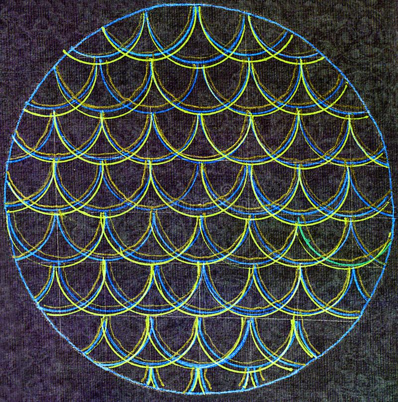 Ligne incurvée par circulaire modèle images libres de droits