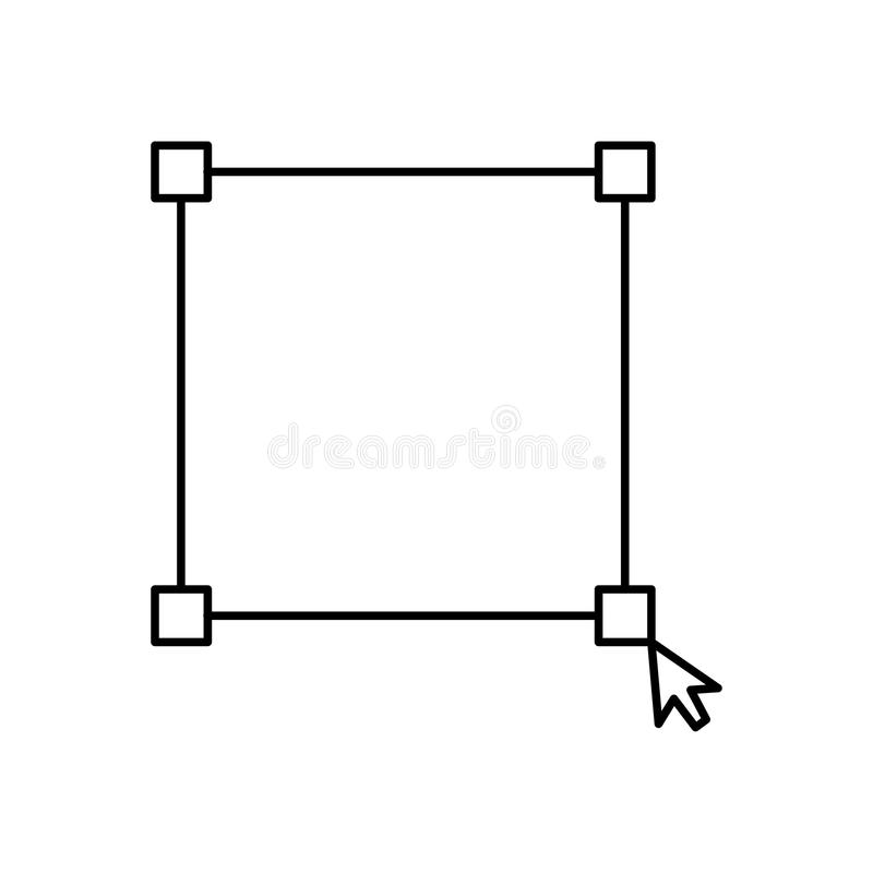 Ligne interactive icône d'interface de sélection de souris d'écran Illustration au trait d'isolement de vecteur pour le Web ou la illustration libre de droits