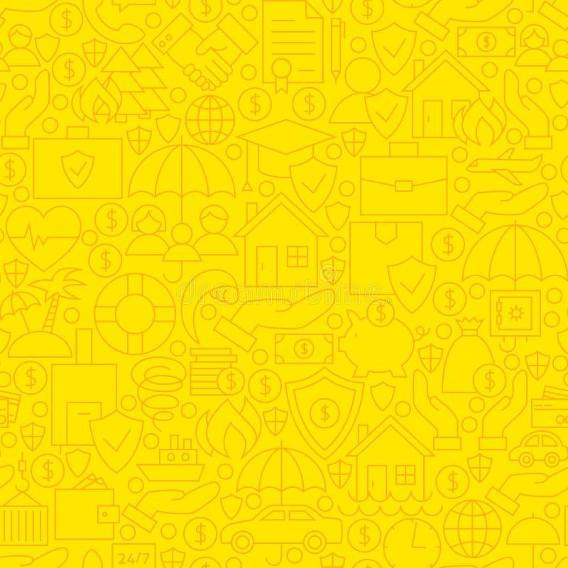 Ligne jaune modèle d'assurance de tuile illustration de vecteur