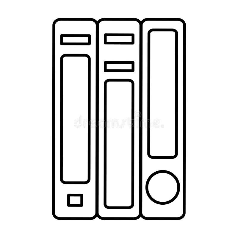 Ligne la connaissance d'école d'objet de livres d'éducation illustration stock