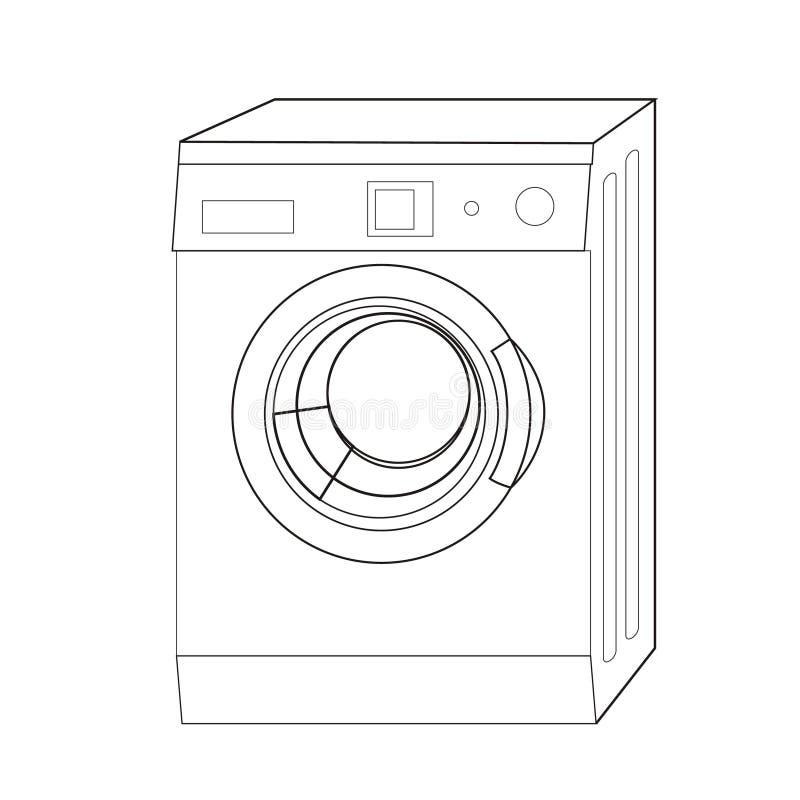 ligne lavage de machine illustration libre de droits