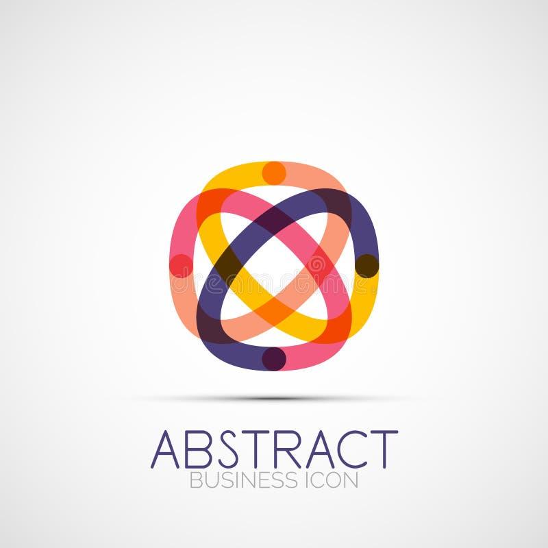 Ligne logo de boucle de conception illustration stock