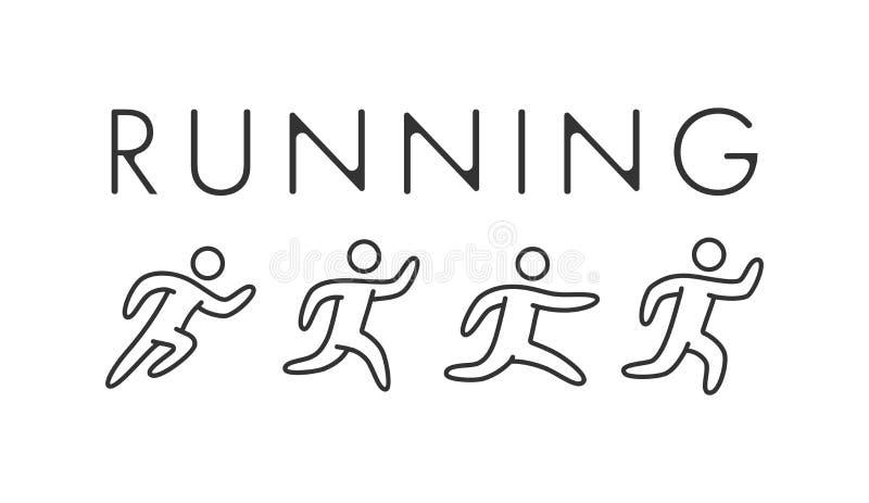 Ligne logo et symbole courants Icône de sport de vecteur illustration libre de droits
