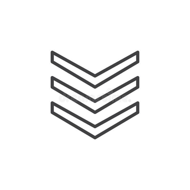 Ligne luxuriante icône de bandoulières illustration libre de droits