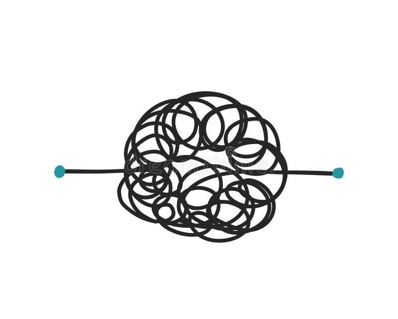Ligne malpropre aliénée illustration de concept confus de processus de vecteur illustration stock