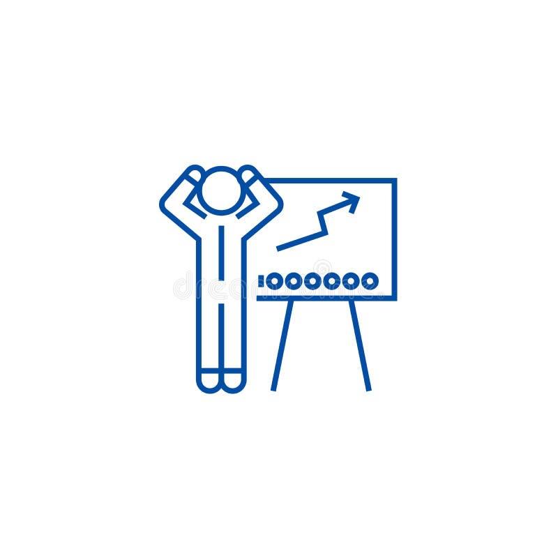Ligne marchande concept de forex d'icône Forex commerçant le symbole plat de vecteur, signe, illustration d'ensemble illustration libre de droits