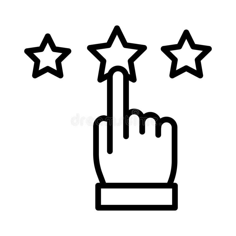 Ligne mince de évaluation ligne icône de vecteur illustration de vecteur