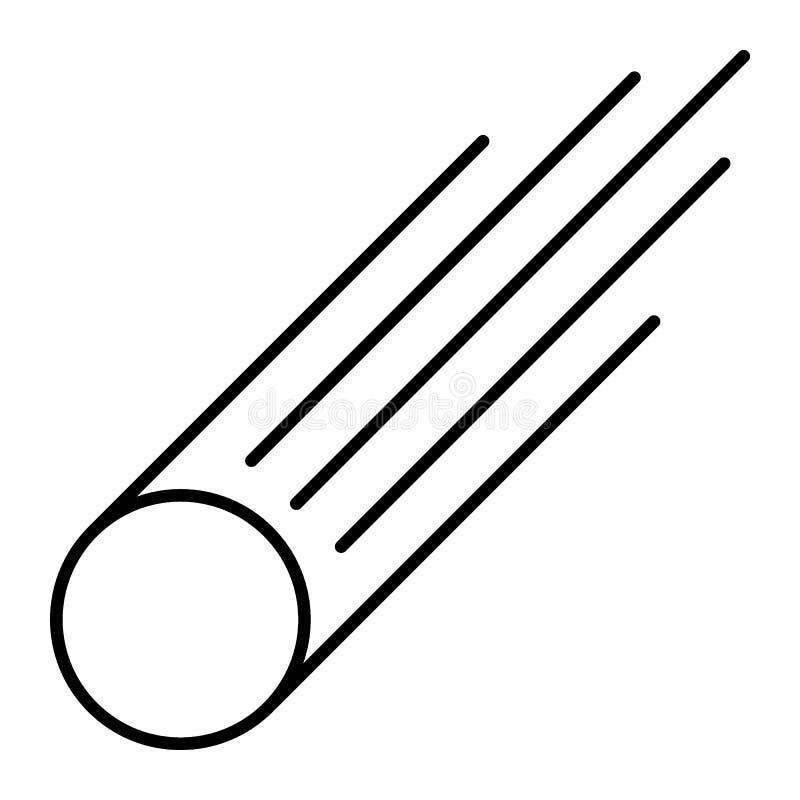 Ligne mince icône d'étoile filante Illustration de vecteur d'étoile filante d'isolement sur le blanc Conception de style d'ensemb illustration stock
