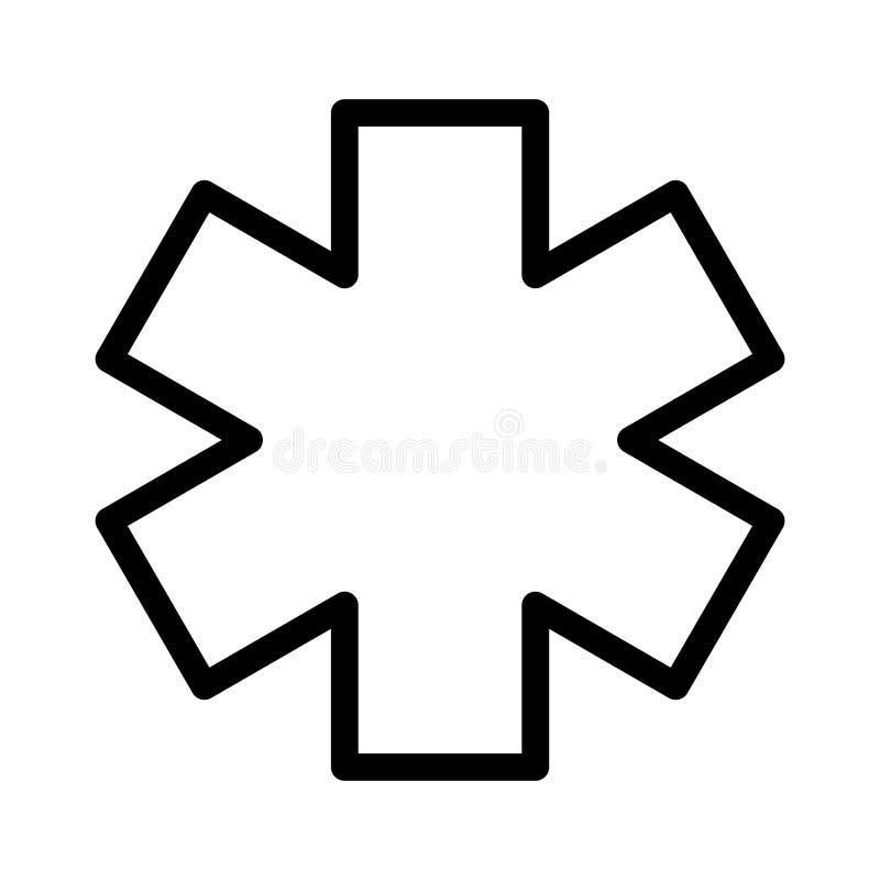 Ligne mince icône de blessure de vecteur illustration stock