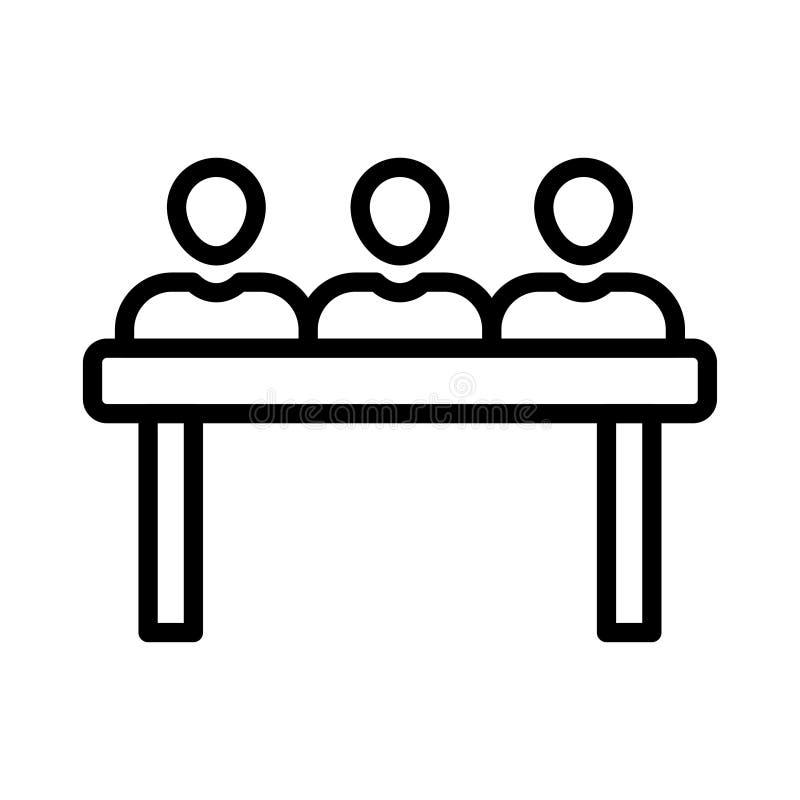 Ligne mince icône de conférence de vecteur illustration stock