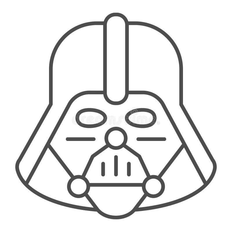Ligne Icone De Darth Vader Illustration De Vecteur De Star Wars D Isolement Sur Le Blanc Conception De Style De Contour De Caract Photo Editorial Illustration Du Darth Illustration 140198561