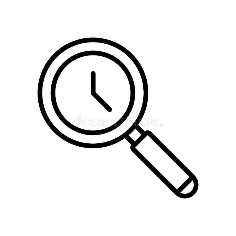Ligne mince icône de gestion du temps illustration stock
