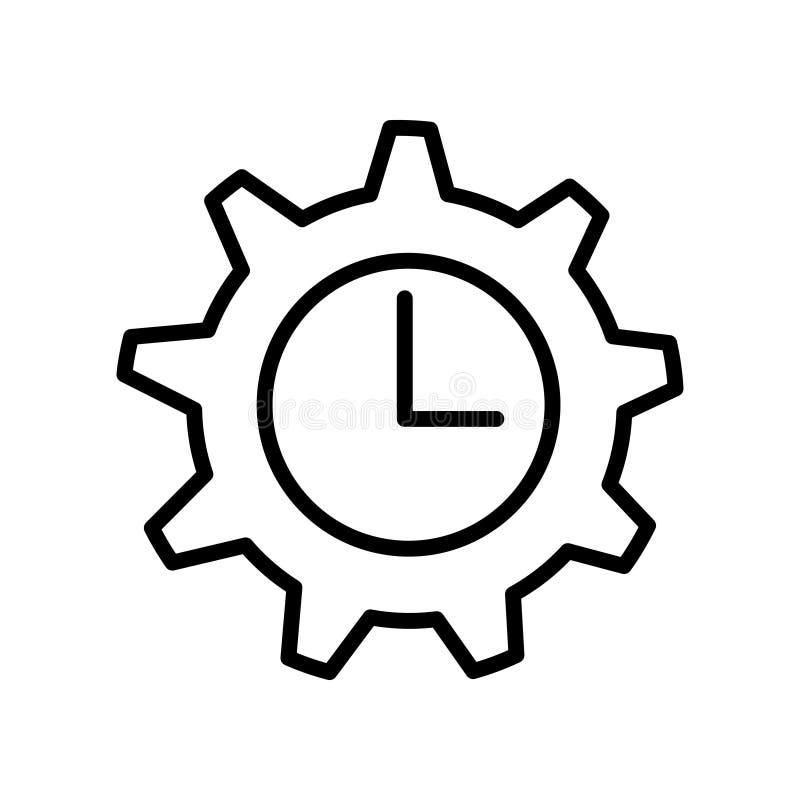 Ligne mince icône de gestion du temps illustration libre de droits