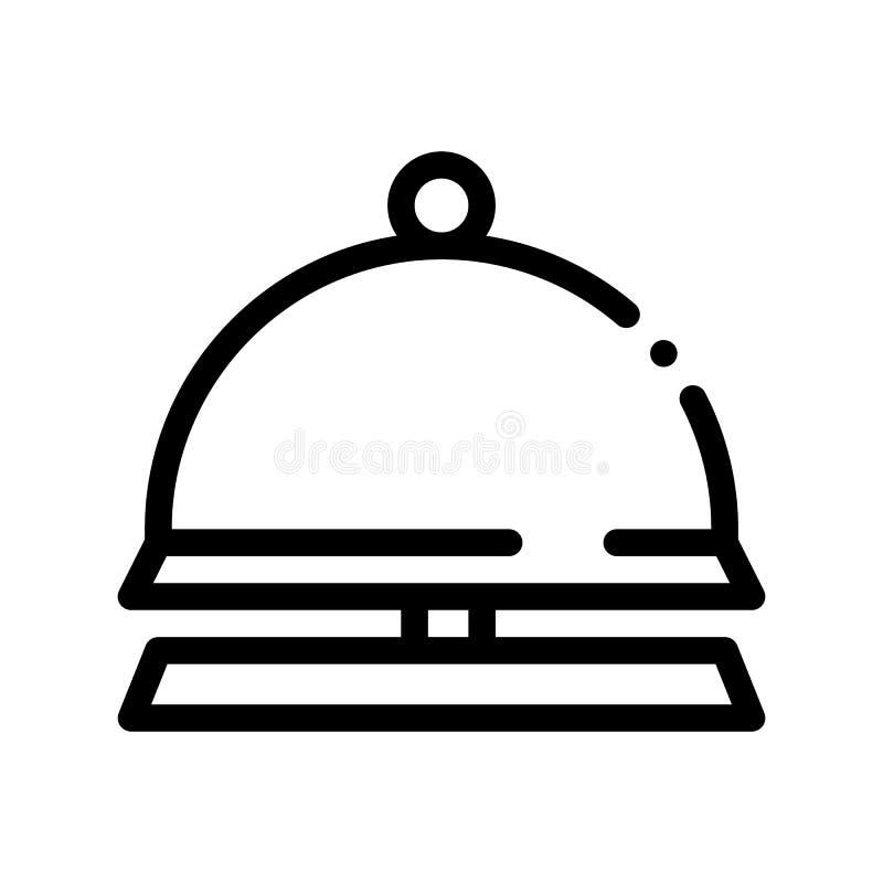 Ligne mince icône de vecteur de Bell d'équipement de réception illustration libre de droits