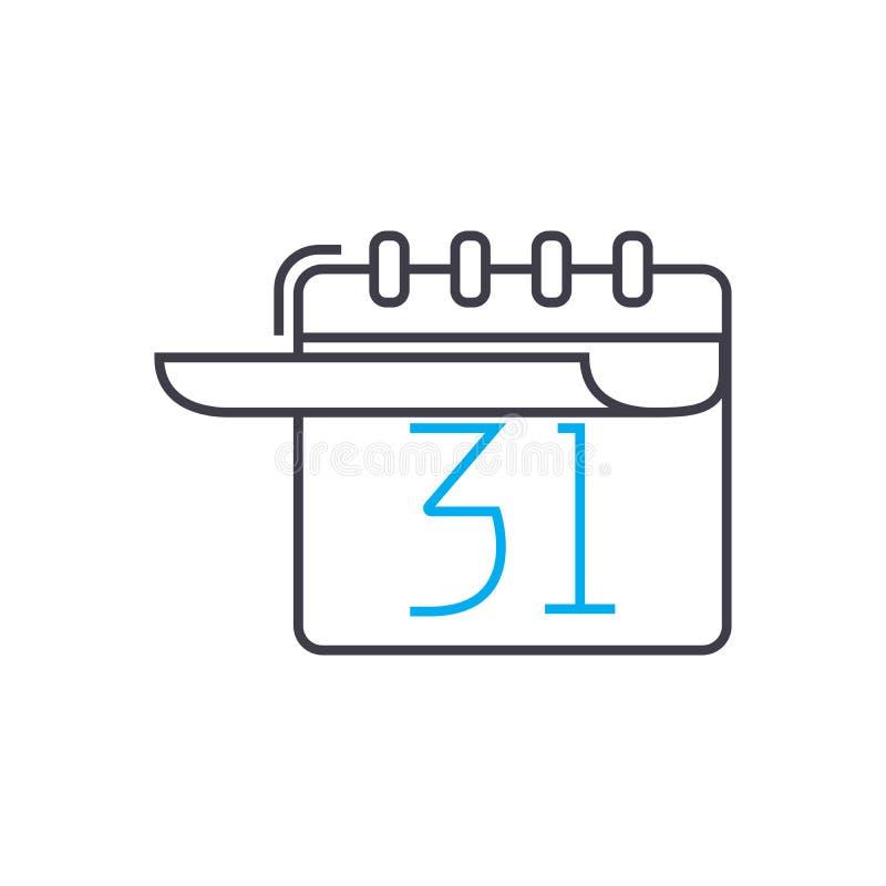 Ligne mince icône de vecteur de planification à long terme de course Illustration d'ensemble de planification à long terme, signe illustration libre de droits