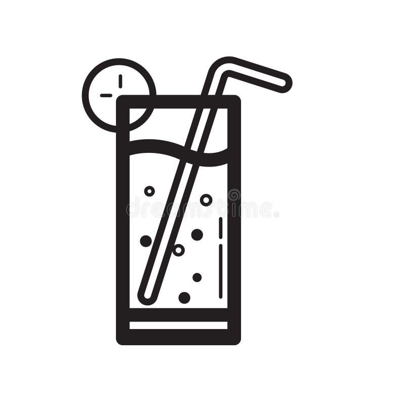 Ligne mince icône froide de boissons illustration stock