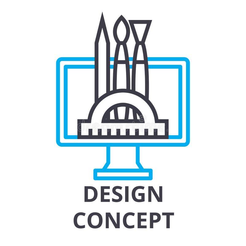Ligne mince icône, signe, symbole, illustation, concept linéaire, vecteur de concept de construction illustration stock