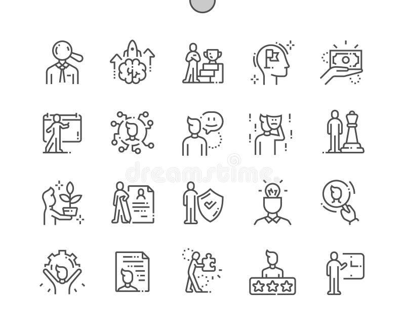 Ligne mince icônes de Well-craftedVector de personnalité illustration de vecteur
