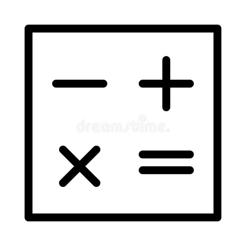 Ligne mince ic?ne de math?matiques de vecteur illustration stock