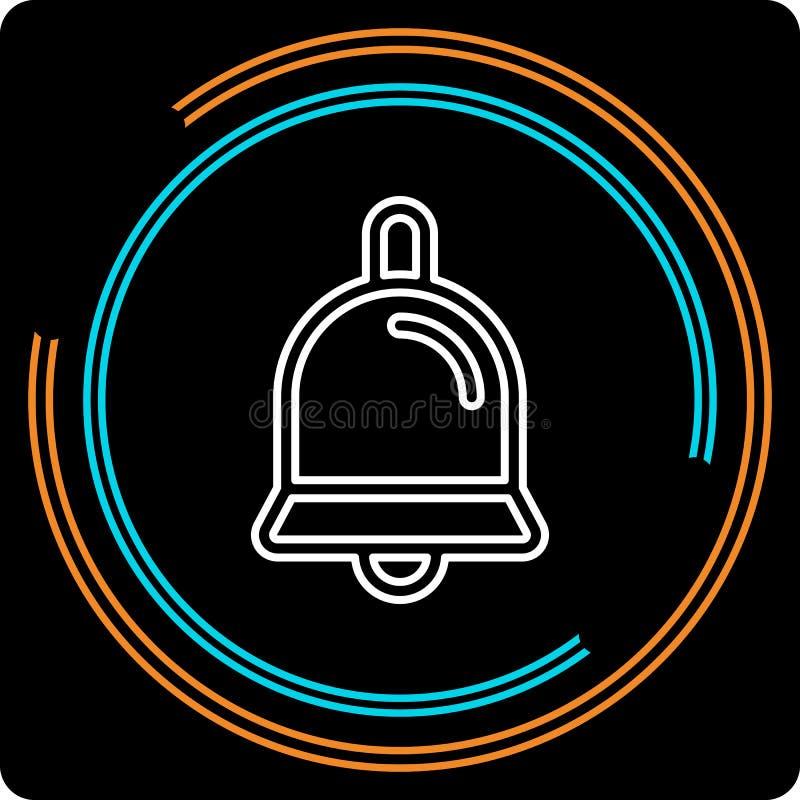 Ligne mince simple icône de Bell de vecteur illustration libre de droits