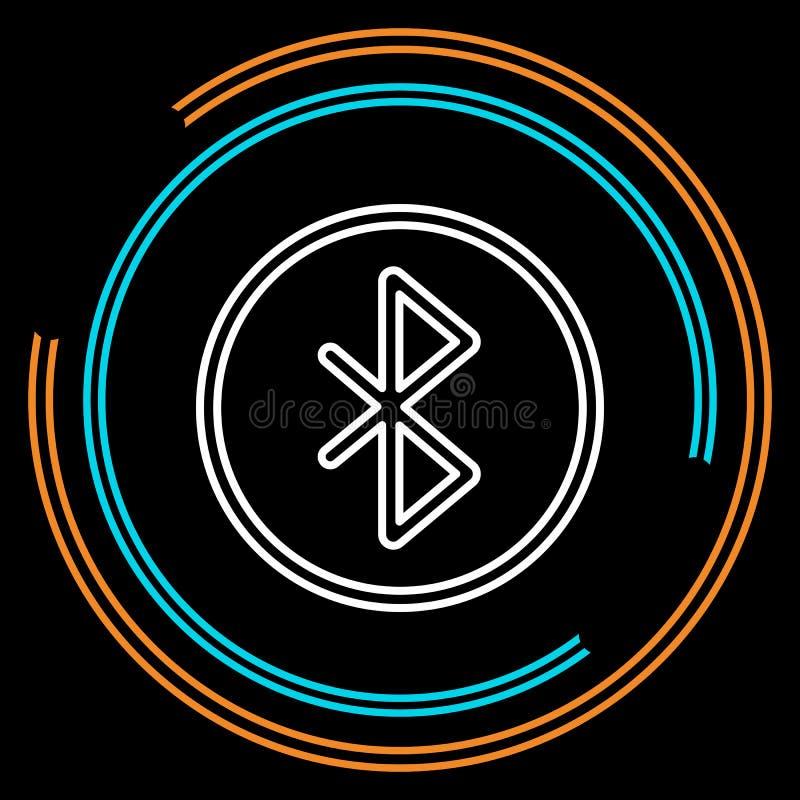 Ligne mince simple icône de Bluetooth de vecteur illustration de vecteur
