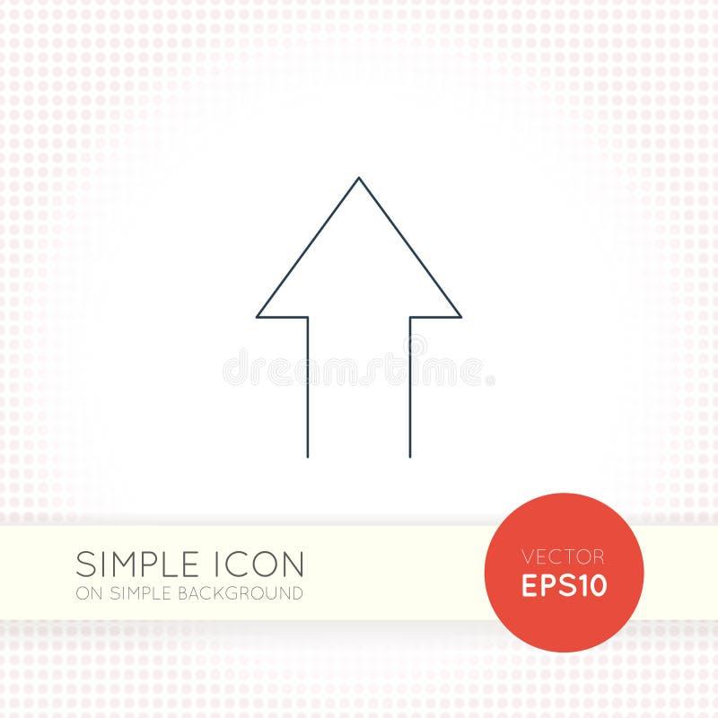 Ligne mince supplémentaire icône universelle de flèche de vecteur de conception Éléments pour l'interface utilisateurs illustration libre de droits