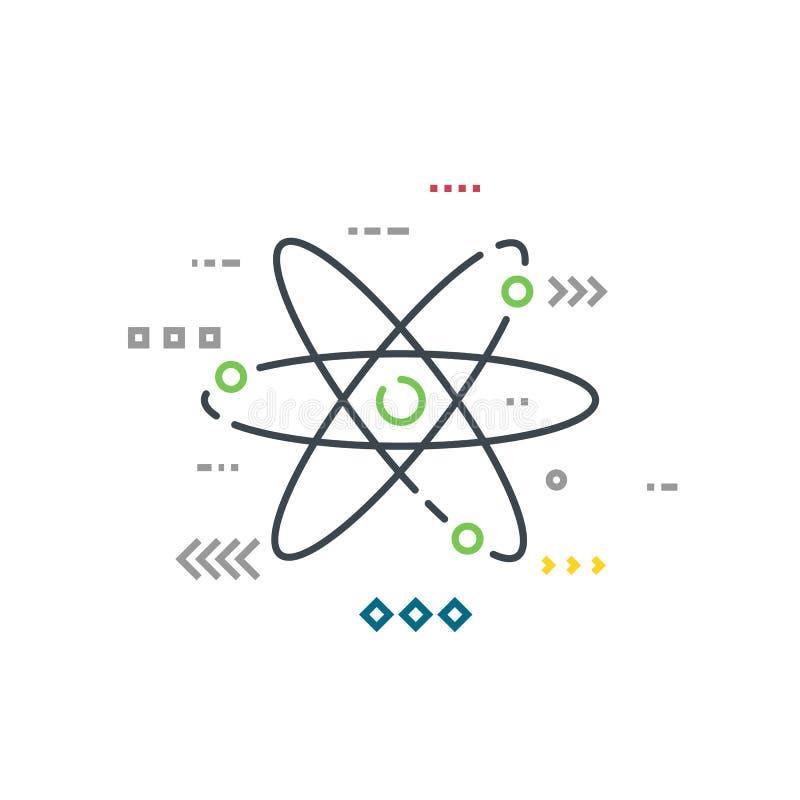 Ligne modèle d'atome de style illustration libre de droits
