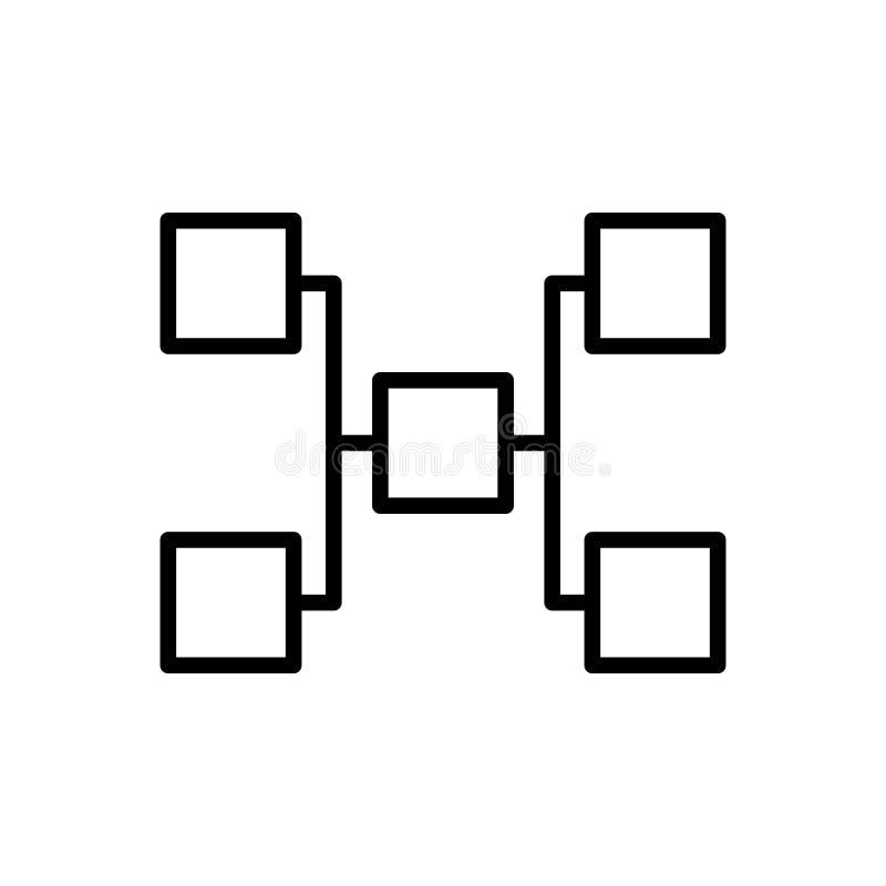 Ligne moderne icône de hiérarchie illustration libre de droits
