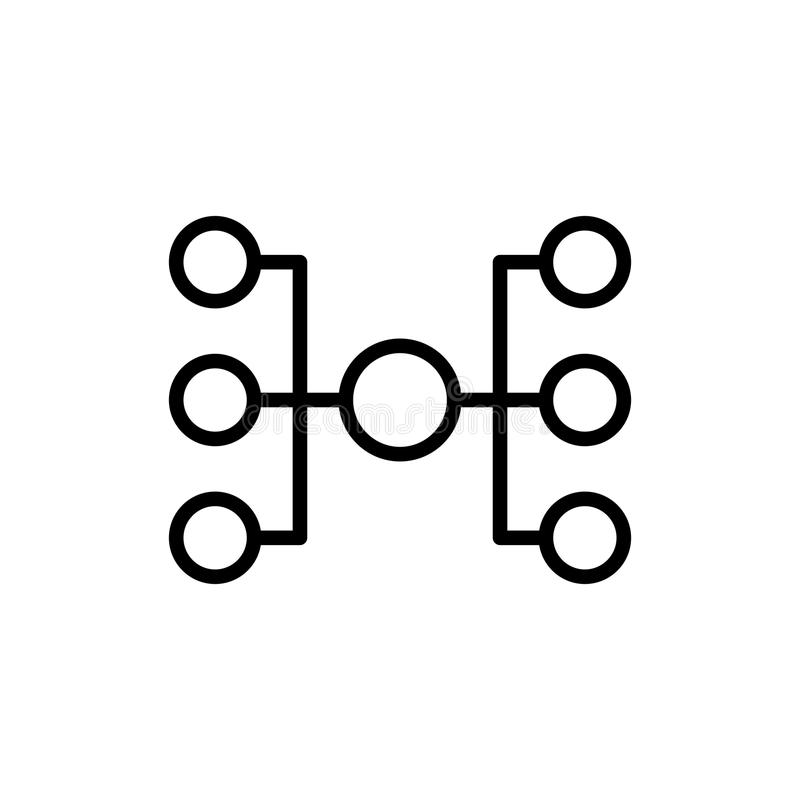 Ligne moderne icône de hiérarchie illustration stock