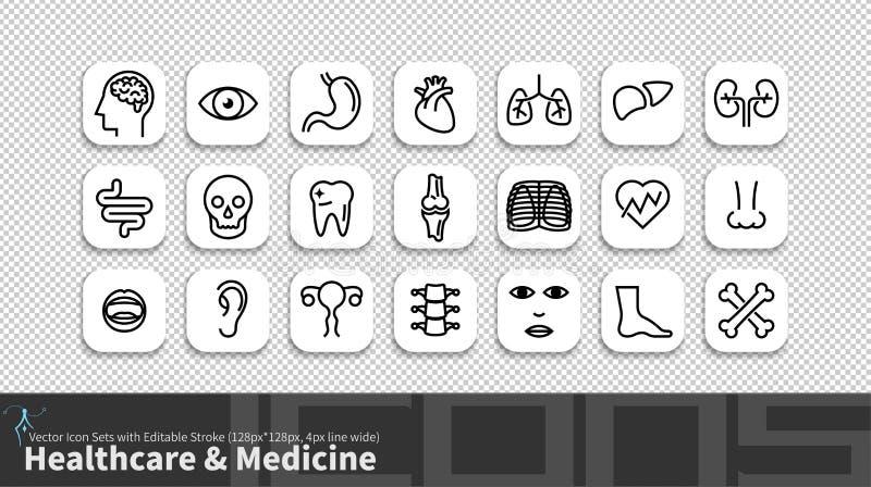 Ligne moderne icône de simplicité réglée avec la course editable illustration stock