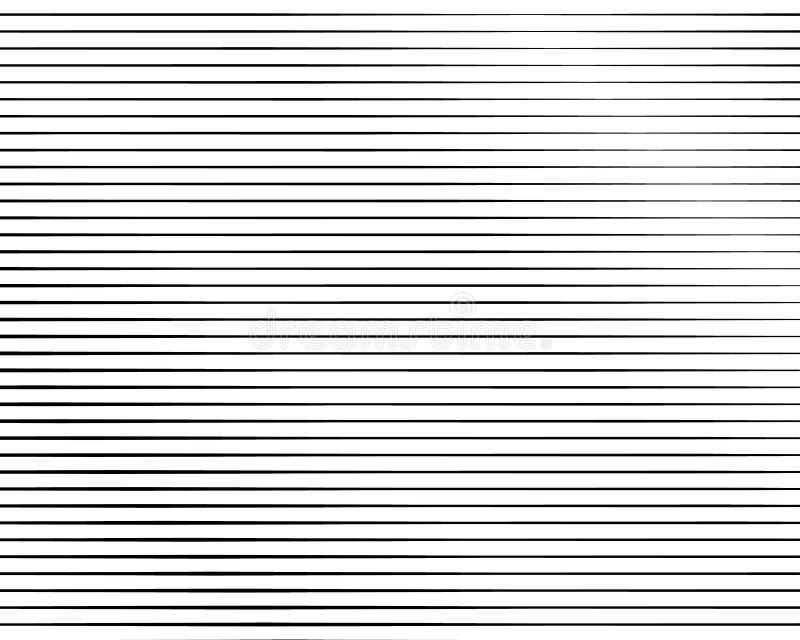 Ligne noire et blanche modèle tramé avec l'effet de gradient Rayures horizontales Illustration de vecteur illustration de vecteur
