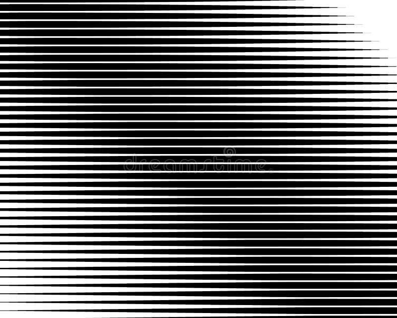 Ligne noire et blanche modèle tramé avec l'effet de gradient Rayures horizontales Illustration de vecteur illustration stock