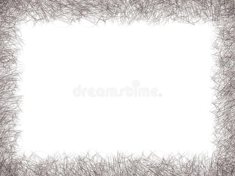 Ligne noire frontière de dessin de résumé sur le fond blanc d'isolement illustration stock