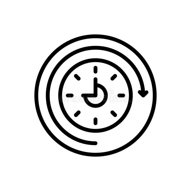 Ligne noire icône pour futur, prochain et venir illustration libre de droits