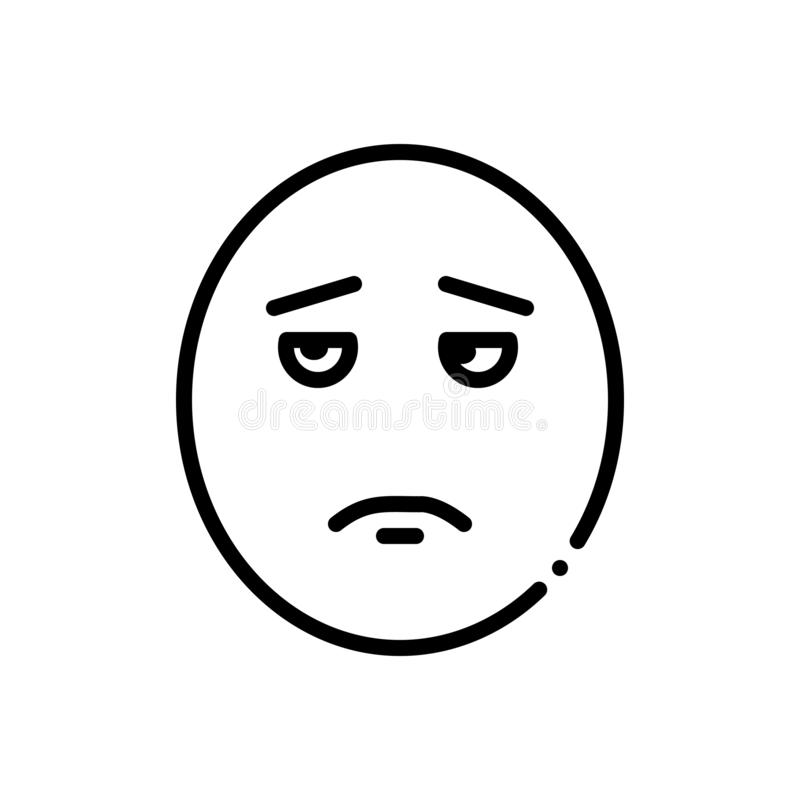 Ligne noire icône pour l'abruti sale et malpropre illustration libre de droits