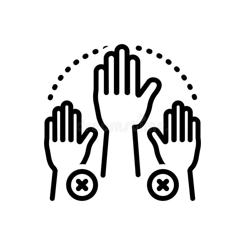 Ligne noire icône pour l'absentéisme, absent et manquer illustration stock