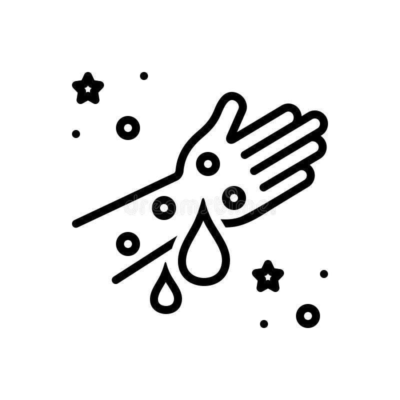 Ligne noire icône pour l'hémophilie, la maladie et la purge illustration de vecteur