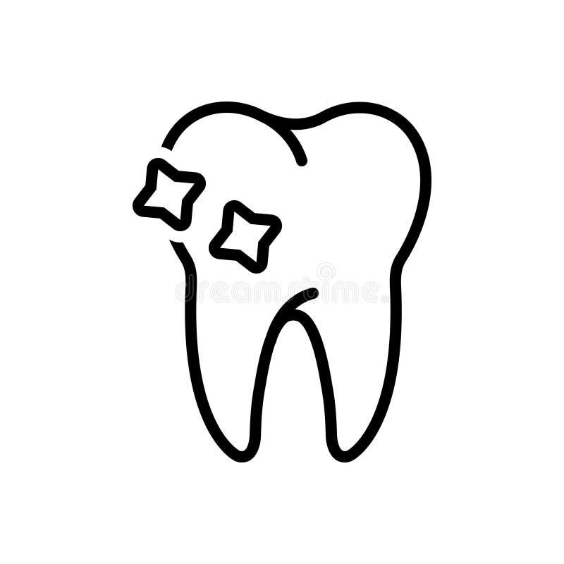 Ligne noire icône pour la dent, le periodontics et dentaire illustration de vecteur