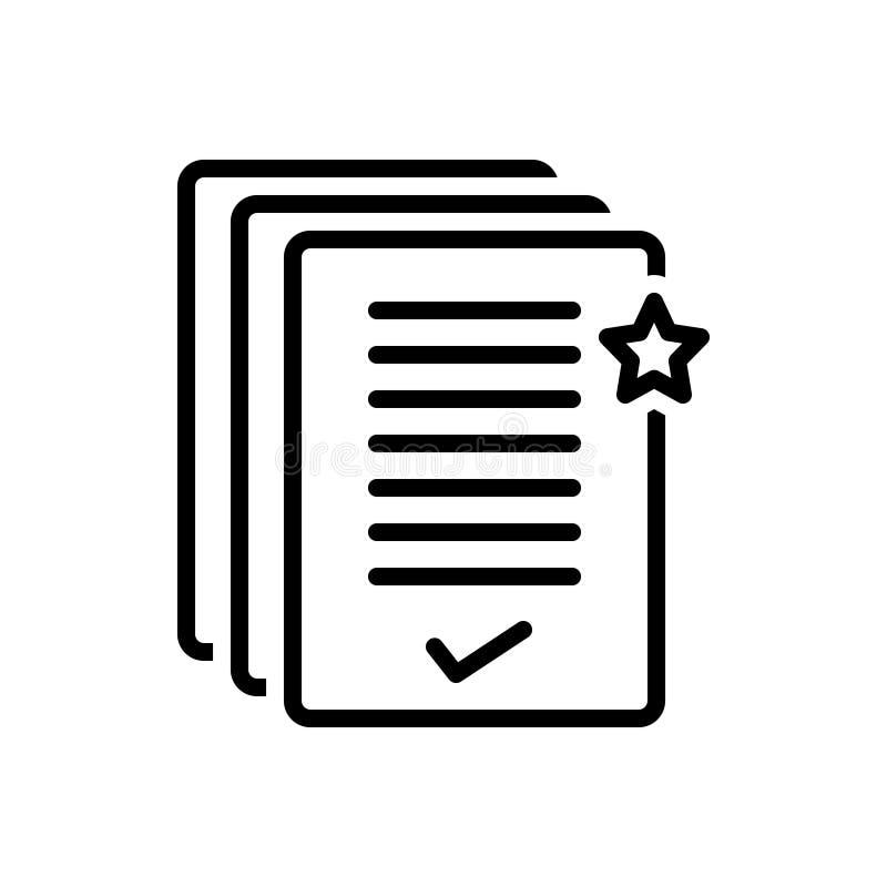 Ligne noire icône pour la priorité, la priorité et le rang illustration de vecteur