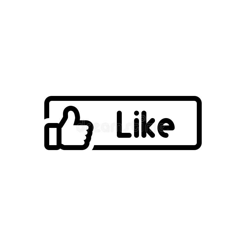 Ligne noire icône pour le bouton similaire, bon et l'approbation illustration libre de droits