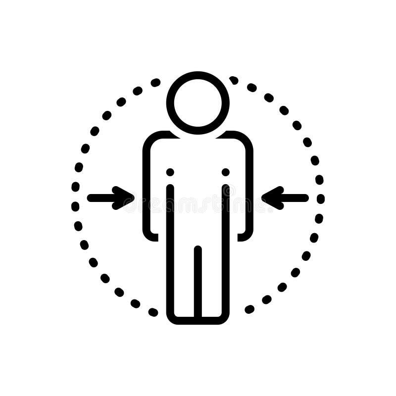 Ligne noire icône pour me, moi et en privé illustration de vecteur