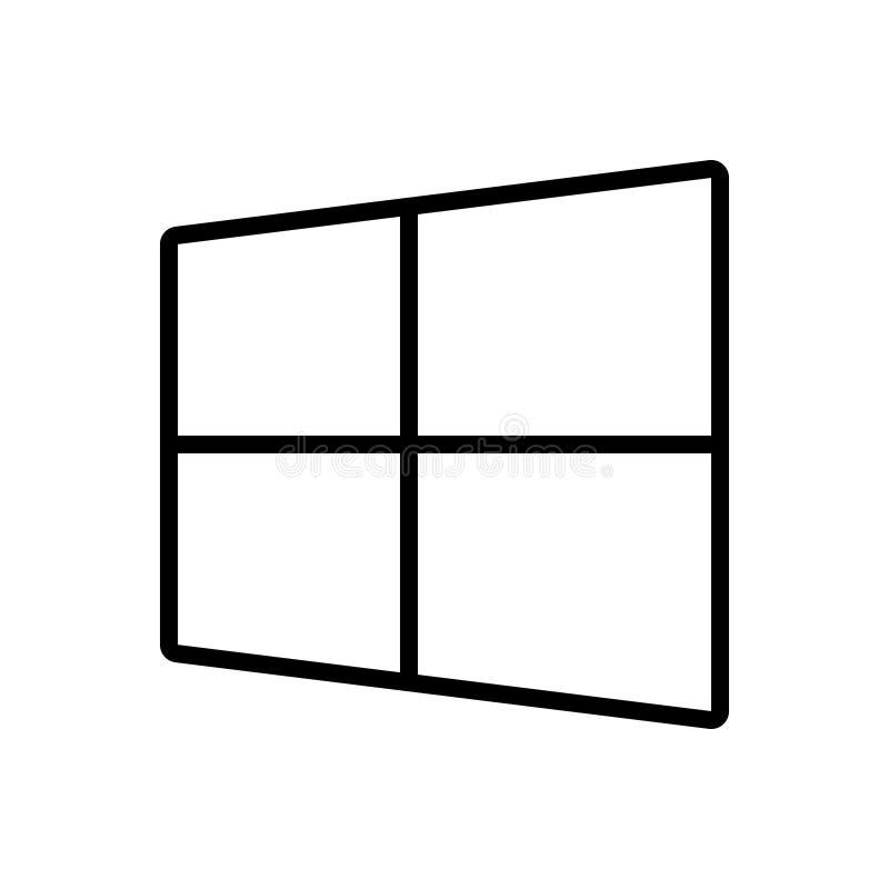 Ligne noire icône pour Microsoft, le logiciel et le site Web illustration libre de droits