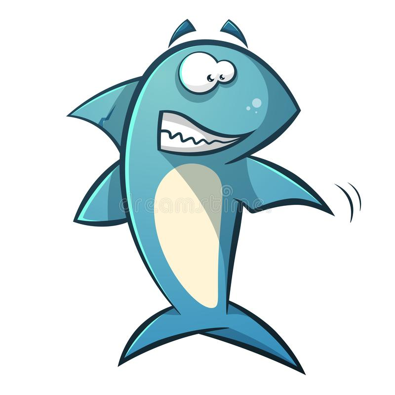 Ligne noire illustration de requin de bande dessinée illustration stock