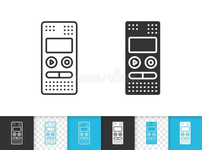Ligne noire simple icône d'enregistreur de vecteur illustration libre de droits